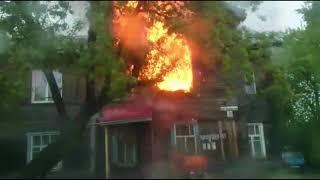 Пожар на Ульяновской, 74 в День города, 10 июня