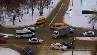 ДТП (авария г. Волжский) ул. Карбышева ул. Молодогвардейцев 28-02-2018 13-49