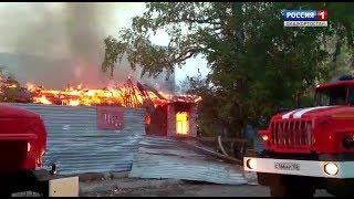Пожар на улице Российской в Уфе