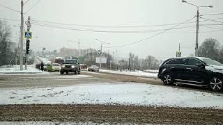 ДТП на перекрёстке. Смоленск 2 декабря