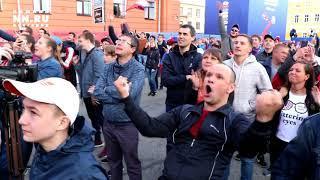 Открытие фестиваля болельщиков в Н.Новгороде (Футбольный матч Россия-Саудовская Аравия)