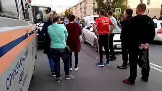 ДТП на улице Комсомольской в Южно-Сахалинске