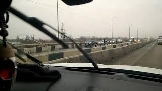 Авария на Текучевском мосту утром 7 марта