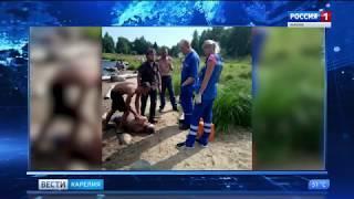 Очевидцы спасли мужчину, тонувшего в Онежском озере