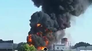 ЧП в Алейске: на сельхозскладе взорвались топливные цистерны