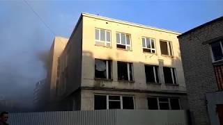 """Здание """"Юпитера"""" горит в центре Нижнего Новгорода"""