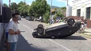 Сочи Лазаревское Пилот перевернул машину и скрылся с места ДТП 4К