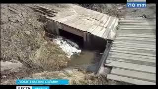 Дома в деревне Тайшетского района подтопили талые воды