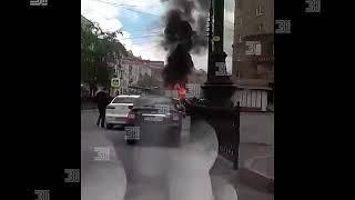 Пожар в центре Челябинска (1)