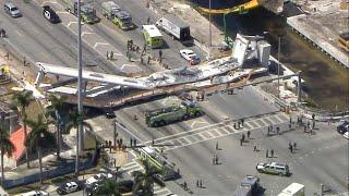 В Майами обрушился пешеходный мост