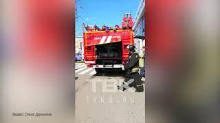 """Пожарные учения в Красноярске ТК """"Атмосфера дома"""""""