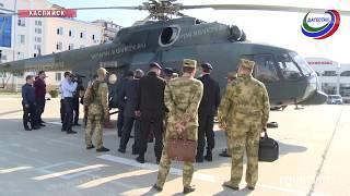 Главнокомандующий войсками Нацгвардии посетил Каспийский ОМОН