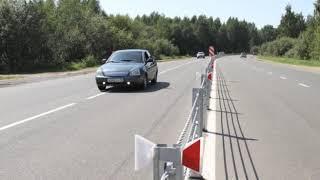 На окружной дороге Рыбинска устанавливают тросовое ограждение