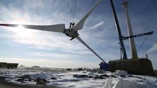 Строительство нового ветропарка в Калининградской области
