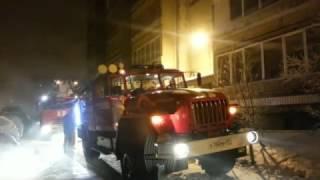 Пожар в квартире на ул.Полярная, 4 января 2017 год