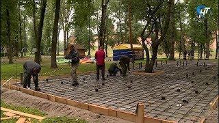 В Кремлевском парке идет строительство нового спортивного объекта