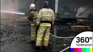 В Ленинградской области произошёл пожар на деревообрабатывающем заводе
