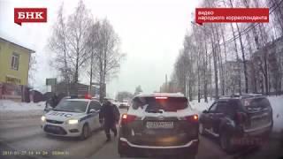 В Сыктывкаре водитель протаранил несколько машин