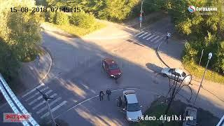 ДТП на перекрестке ул. Ленинградская - Разина 15.08.2018