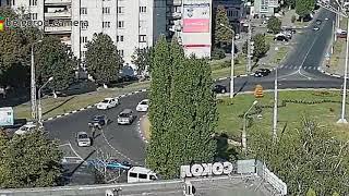 Утреннее ДТП на кольце  Щорса - Королёва в Белгороде.