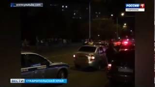 Хулиганы разбили патрульный автомобиль
