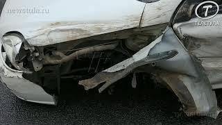 В тройном ДТП в Туле легковушка лишилась колеса