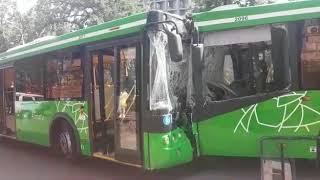 ДТП с участием двух автобусов в Алматы