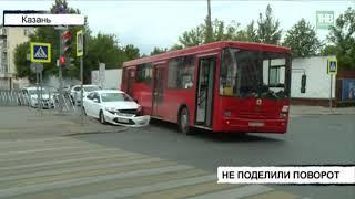 На перекрёстке улиц Гаяза Исхаки и Чернышевского столкнулись Форд Мондео и автобус 68-го маршрута
