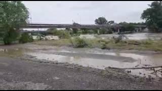 Уровень воды в реке Кубань снижается