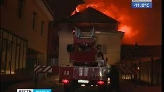 Жилое здание горело на улице Карла Маркса в Иркутске