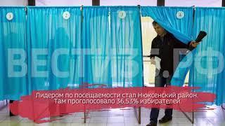 Явка вологжан на выборах президента РФ