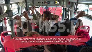В Череповце автобус столкнулся с иномаркой: есть пострадавшие