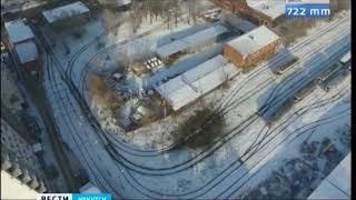 Трамвай сгорел в вагонном депо в Иркутске