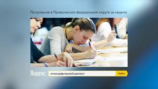 ТОП-5 запросов в поисковой системе Яндекс: 1-8 ноября