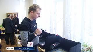 На избирательных участках Вологды установили электронные ящики для бюллетеней