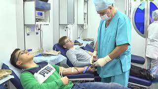 В Самаре в рамках недели студенческого добра, молодые люди могут сдать свою кровь не отходя от вуза