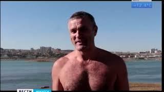 Зимний сезон открыли «моржи» в Иркутске