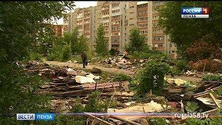 В Пензе строительный мусор угрожает безопасности местных жителей