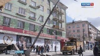 На Копросе упал столб