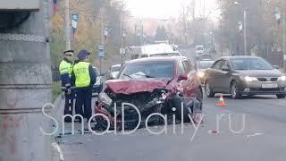 ДТП на улице Дзержинского в Смоленске