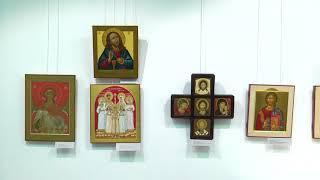 Лики святых и золотое шитьё. В Кургане открылась выставка религиозного искусства