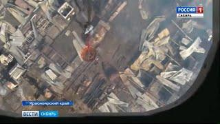 В Красноярском крае ликвидирован крупный пожар на лесоперерабатывающем комбинате
