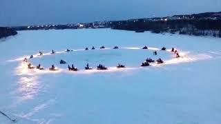 Флешмоб. Ноглики. Снегоходы. Отлимпиада 2018 в Южной Корее