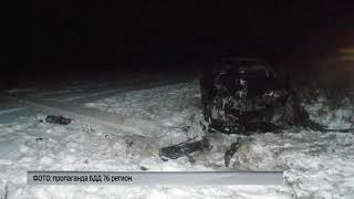 В Борисоглебском районе «Тойота» перевернулась и врезалась в столб: есть пострадавшие