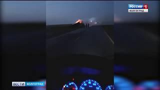 Под Волгоградом фура столкнулась с легковым автомобилем