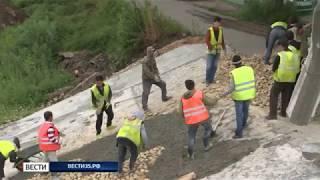 Работы на пешеходном мосту в Вологде не успели выполнить в срок