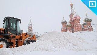 Мощный снегопад в Москве