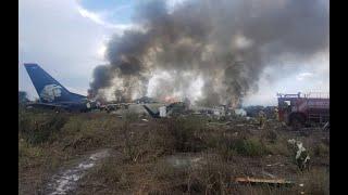 Пассажирский самолет разбился в Мексике