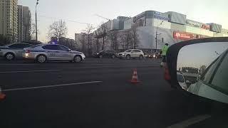 ДТП на Славянском бульваре 18.03.2018