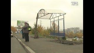 Красноярцы жалуются на состояние остановок